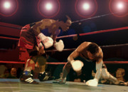 Boxing Framed Prints - Knockdown Framed Print by David Lee Thompson
