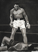 Sports Art Pastels Originals - Knockdown by L Cooper