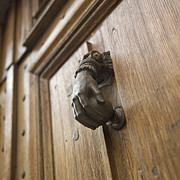Brown Photo Metal Prints - Knocker Metal Print by Bernard Jaubert