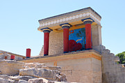 Fresco Framed Prints - Knossos North Gate view Framed Print by Paul Cowan