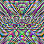 Curves Digital Art Originals - Knots in Hyperspace Two by Joel Kahn