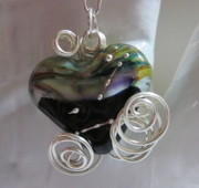 Spirals Jewelry - Know That I Live in Your Healing Heart In Honor of Andrea Necklace by Janet  Telander
