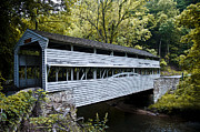 Covered Bridge Digital Art Metal Prints - Knox Covered Bridge - Valley Forge Metal Print by Bill Cannon