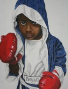 Boxer Paintings - KO Champ by Rufus Royster