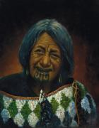 Maori Paintings - Ko Mauria by Peter Jean Caley