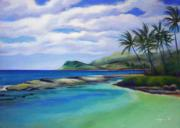 Acrylics Painting Originals - Ko Olina Afternoon by Angela Treat Lyon