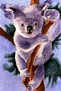 Koala Paintings - Koala Bear by Chris Martinez