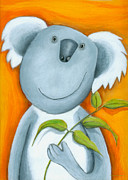 Crafts For Kids Prints - Koala Bear Print by Sonja Mengkowski