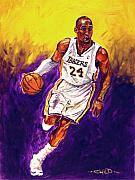 Los Angeles Lakers Paintings - Kobe  by Brian Child