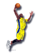 Kobe Digital Art Metal Prints - Kobe Bryant 8 Metal Print by Walter Neal