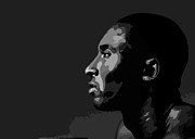 Lakers Digital Art - Kobe by Freddy Koke