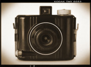 Sepia Digital Art Posters - Kodak Baby Brownie Poster by Mike McGlothlen