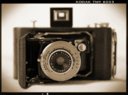 White Digital Art Posters - Kodak Diomatic Poster by Mike McGlothlen