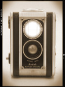 Sepia Digital Art - Kodak Duaflex Camera by Mike McGlothlen