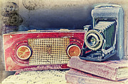 Vintage Radio Prints - Kodak The Old Way Print by Kathy Jennings