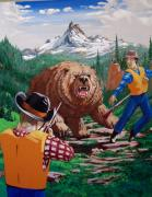 Kodiak Bear Paintings - Kodiak by David  Larcom