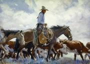 Old West Prints - Koerner: Cowboy, 1920 Print by Granger