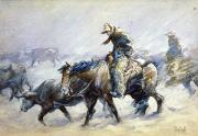 Old West Prints - Koerner: Hard Winter, 1932 Print by Granger