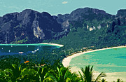 Tourists Attraction Photo Prints - Koh Phi Phi ... Print by Juergen Weiss