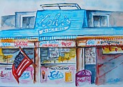 Oceanside Painting Prints - Kohrs Frozen Custard Print by Elaine Duras