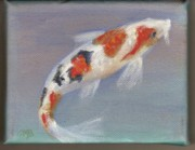 Koi Pond Tapestries - Textiles - Koi 1 by Colleen Birch