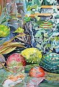Balls Originals - Koi and Waterfall by Mindy Newman
