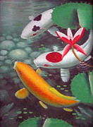 Balinese Art Crafts - Koi Fish 1