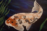 Koi Painting Posters - Koi Fish Poster by Hollie Leffel