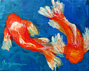 Bright Colors Art - Koi Fish by Patricia Awapara