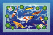 Fish Digital Art Originals - Koi Joy Tripple by Jack Potter