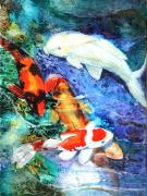 Koi Mixed Media Posters - Koi Poster by Patricia Allingham Carlson