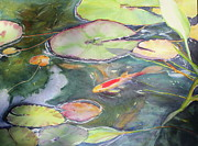 Harmony Painting Posters - Koi Pond 2 Poster by Madeleine Arnett