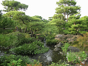 Kobe Photos - Kokoen Samurai Gardens - Himeji City Japan by Daniel Hagerman