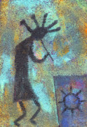 Native American Painting Originals - Kokopeli by Wayne Potrafka