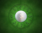 Putter Posters - Kokopelli Golf Poster by Chris Rhynas