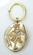 Charm Ring Jewelry - Kokopelli Key Ring for a Man by Virginia Vivier