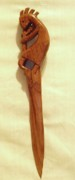 Southwestern Sculpture Sculptures - Kokopelli Letter Opener by Russell Ellingsworth