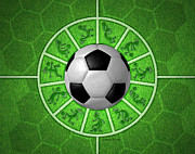 Player Digital Art Posters - Kokopelli Soccer Poster by Chris Rhynas