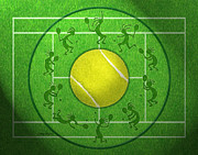 Player Digital Art - Kokopelli Tennis Grass by Chris Rhynas