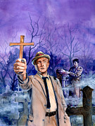Television Painting Posters - Kolchak Night Stalker Poster by Ken Meyer jr