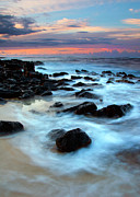 Rocks Photo Posters - Koloa Dawn Poster by Mike  Dawson