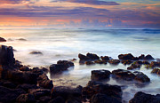 Rocks Art - Koloa Sunrise by Mike  Dawson