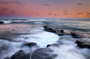 Lava Rock Prints - Koloa Sunset Print by Mike  Dawson