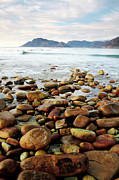 Western Cape Prints - Kommetjie Beach Print by Neil Overy