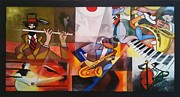 Trombone Painting Originals - Komposisyong musika 2 by Lander Blanza