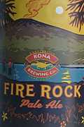 Kona Brewing Posters - Kona Fire Rock Poster by Bill Owen