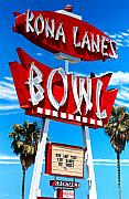 Bowling Alley Paintings - Kona Lanes by Michael Ward