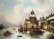 Canals Painting Prints - Konigsberg Print by Ludwig Hermann