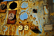 Abstracts Photo Prints - Kontroller Rust And Metal Series Print by Mark Weaver