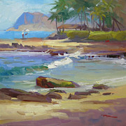 Sketchy Prints - Koolina Lagoon Print by Richard Robinson